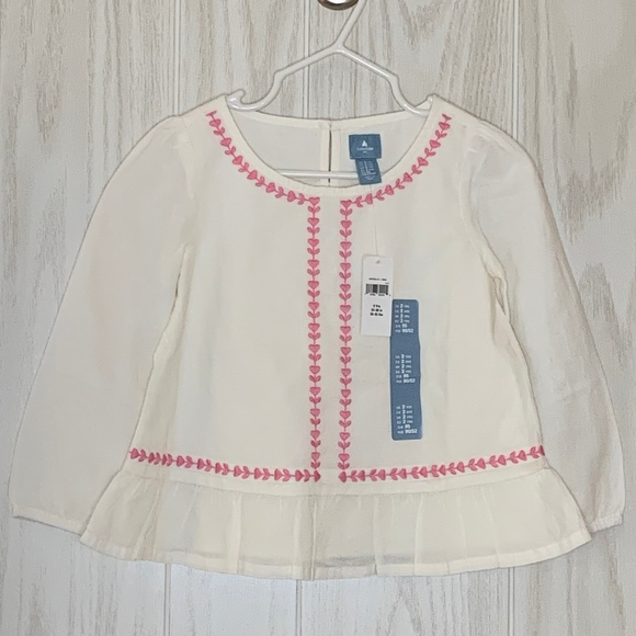 GAP Other - NWT Baby GAP Boho Top w/ Embroidery & Peplum 2T
